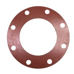 "Gasket Pipe Flange Red Rubber Full Face  150# 6"" x 1/8"""